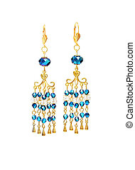 earring with jewelry on a white background