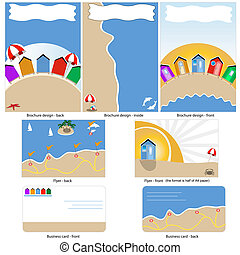 beach template design - Beach template design - brochure...