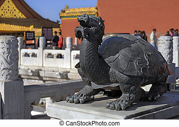 Dragon ancient sculpture from Forbidden City in Beijing