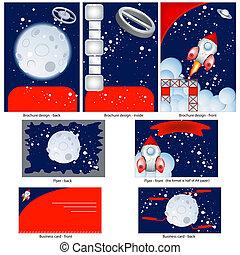 Retro space stationary