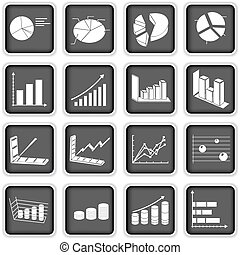 statistic graph icons