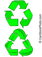 Go Green collection - Go Green recycle symbols