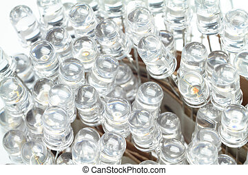 LEDs - Approximately 100 new LEDs are wildly together.