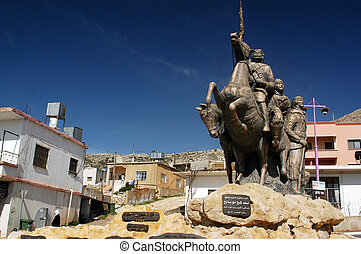 Golan Heights - Israel - GOLAN HEIGHTS - MARCH 22:Sculpture...