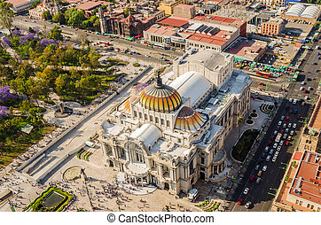 Mexico City Fine Arts Museum - Aerial view of the Fine Arts...