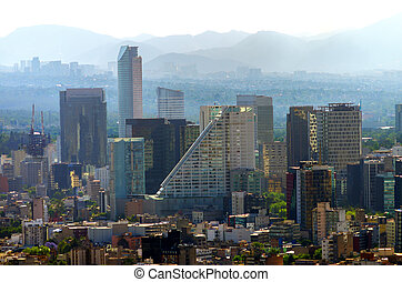 Downtown Mexico City - A view of downtown Mexico City,...