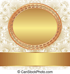 decorative background with gold frame for text