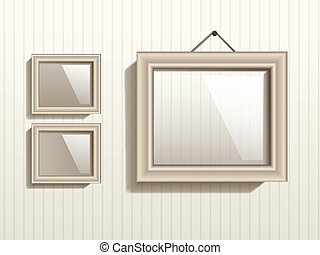 Vector Empty Frame On The Wall