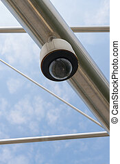 High tech security camera - High tech overhead security...