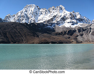 High Mountain and Lake - Gokyo lake at the Everest region,...