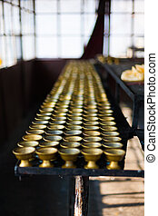 Row Butter Lamp Storage Room Rumtek Monastery - Rows of...