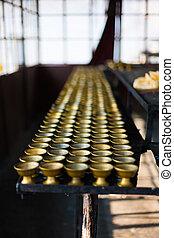 Row Butter Lamp Storage Room Rumtek Monastery - Rows of...