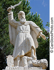 prophet Elijah statue - a statue of prophet Elijah at the...
