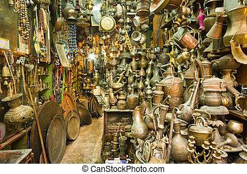 Souvenir shop - a souvenir shop at the old city of Jerusalem