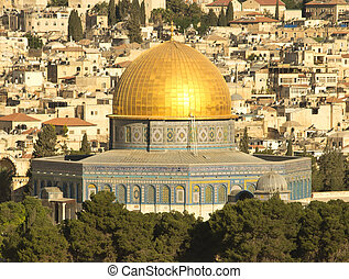 """Dome of the rock - """"Dome of the rock"""" mosque at the old city..."""