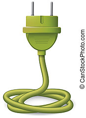 Electric plug - electrical plug with shadow illustration...