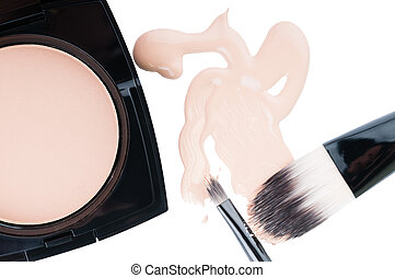 Set for professional make-up on white - Set for professional...