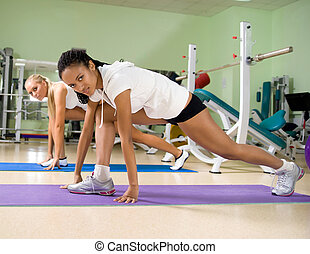 woman at the fitness club
