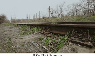 Railway - Camera moves to the movable rail shooters. Two...