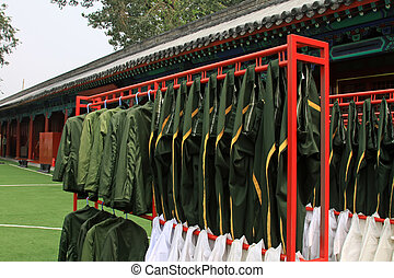 Beijing Tiananmen national flag guard airing clothing -...