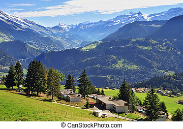 Gorgeous weather in the town of Leysin - Picturesque gentle...