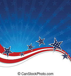 Vector Independence Day Design - Vector Illustration of a...