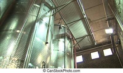 Stainless steel wine distilling vat - Large stainless steel...