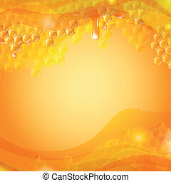 Vector Honey Background - Vector Illustration of an Abstract...
