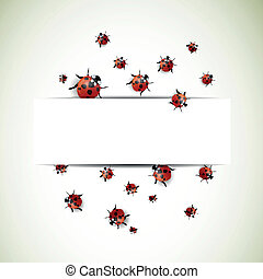 Vector Background with Ladybugs