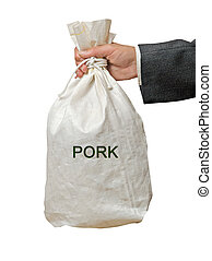 Bag with pork