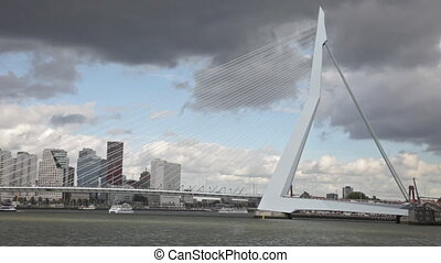 ROTTERDAM, NETHERLANDS - SEPTEMBER 28 Look Erasma Bridge to...