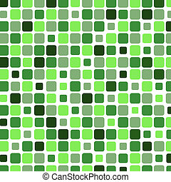 Mosaic with square green background