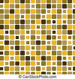 Mosaic with square yellow background