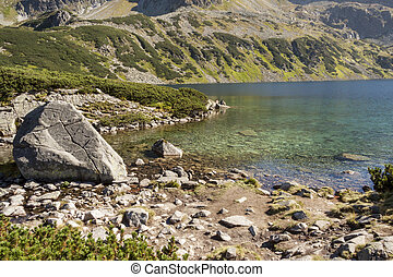 Big Lake one of Five Lakes in Tatra Mountains - Poland. -...