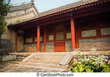Building in Red Snail Temple, Beijing, China - Building in...