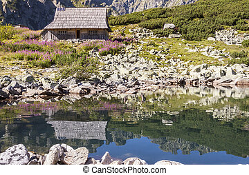 Five Lakes Valley - Tatra Mountains, Poland - Wooden cabin...