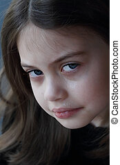 Little Girl Crying - Portrait of a little girl crying.