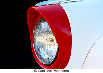 Headlight on a Classic Car