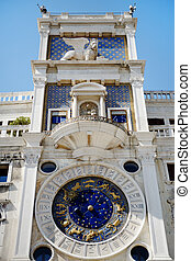 St Mark's Clocktower, Venice, Italy - the Clocktower in St...