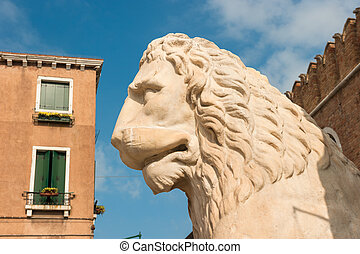 Lion at the Venetian Arsenal, Venice, Italy