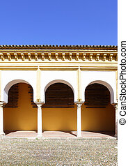 Colonnade in courtyard of Cathedral La Mezquita, Cordoba