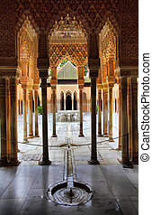 Alhambra - Patio of the Lions in the Alhambra, Granada