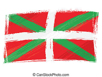 Grunge Basque Country flag - Basque Country flag created in...