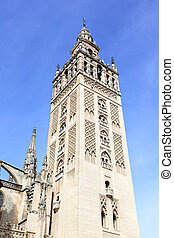 Giralda - Cathedral with Giralda bell tower, symbol of...