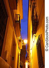 Seville - Narrow street in Seville, Spain