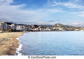 Malaga - Vew of Malagueta district, Malaga