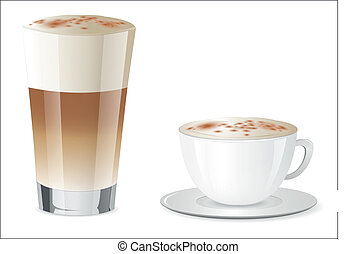Latte Macchiato and Cappuccino
