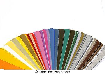 Amostras, cmyk, cor, definição