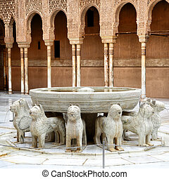 Fountain of the Lions in the Alhambra