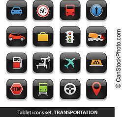 transport, kompress, Knäppas, Kollektion, isolerat, vit